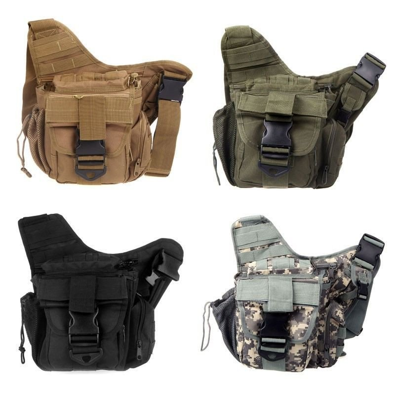 molle tactical utility 3 ways shoulder bag