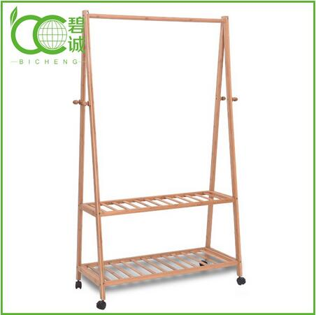 Multifuctional Living Room Furniture Eco-Friendly Bamboo Wooden Coat Rack