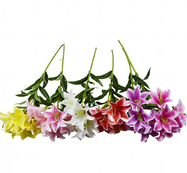 artificial flowers/lily flower,6colors