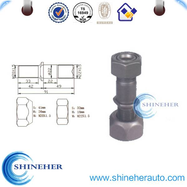 Galvanized t bolt with nut for Scanta front