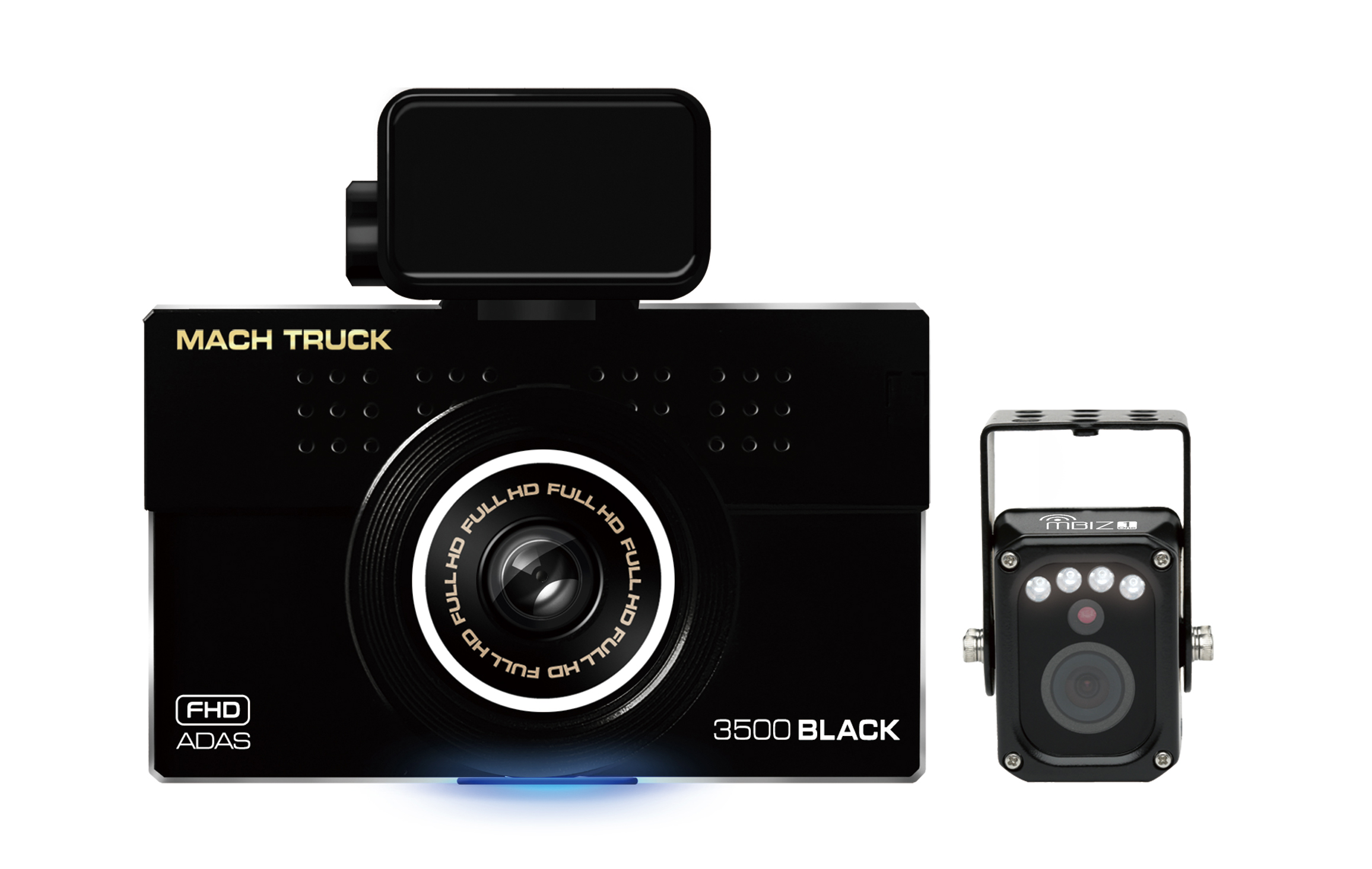 Mach Truck 3500 Black, 2 channel Full HD+D1 commercial vehicle dash cam