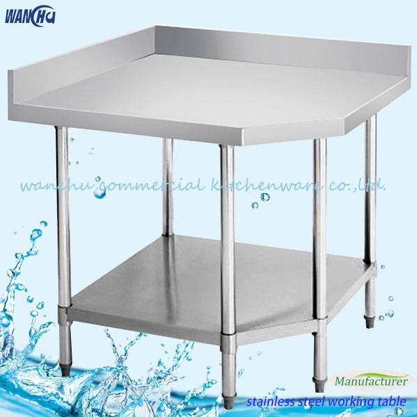 stainless steel corner worktable