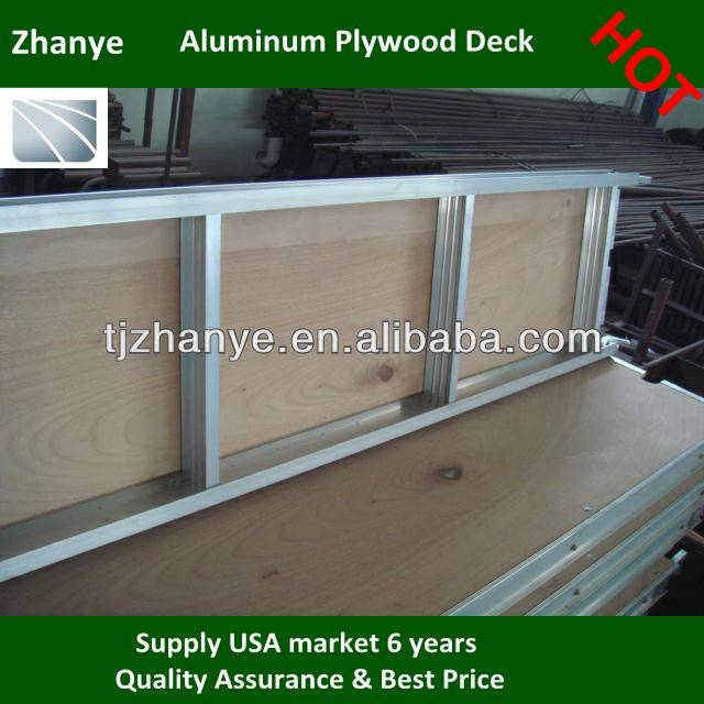 Aluminum Plank with Plywood 7' in FOB tianjin $ 38