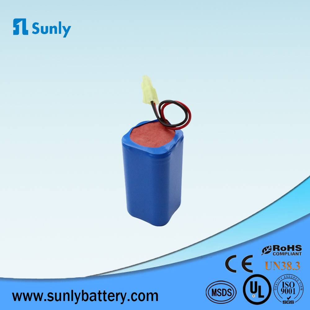 11.1V 18650 rechargeable battery 11.1V 4800mAh li-ion battery pack 3S2P for led lights/Solar lights