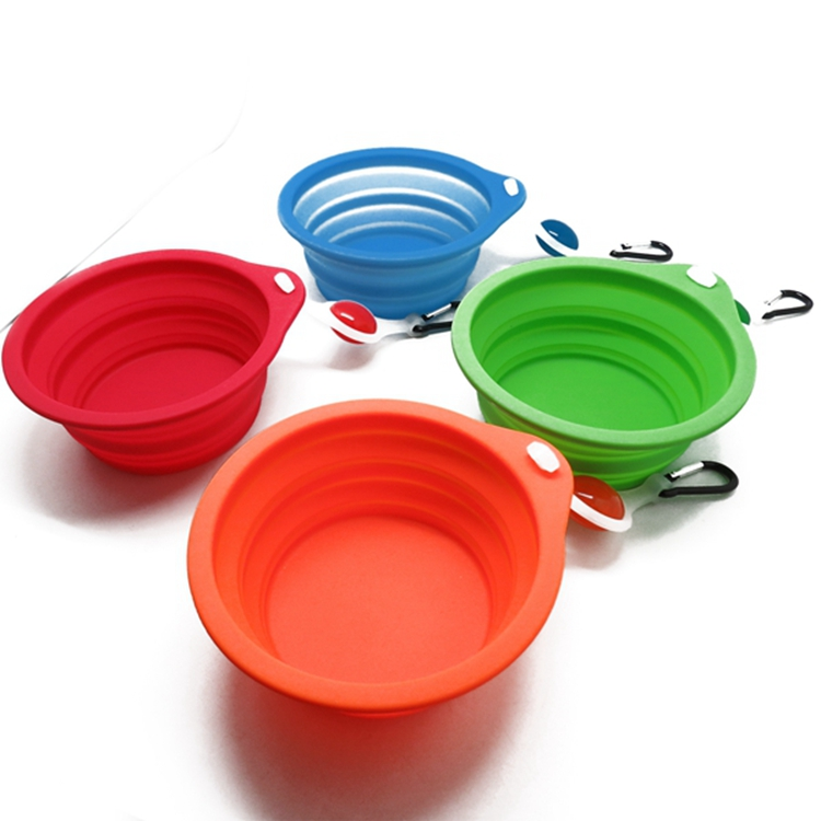 Lovely Cute Puppy Food Bowl Foldable Travel Dog Pet Bowl Convenient Use Silicone Feeding Dish