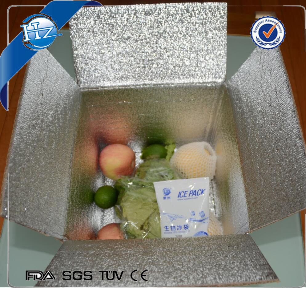 large ice food cooler shipping box