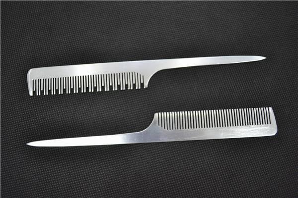 Comb Hair Brush Aluminum Flat Hair Salons