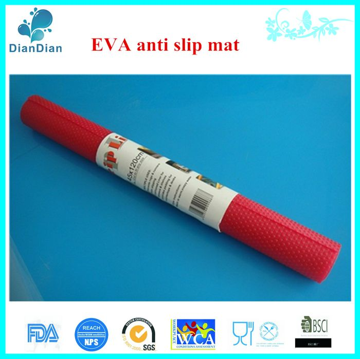 Red Color EVA Washable Non Slip Liner, EVA Shelf Liner