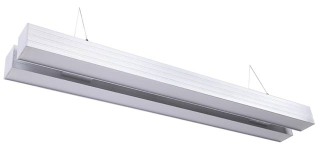 Double suspended linear light aluminum housing led pendant light