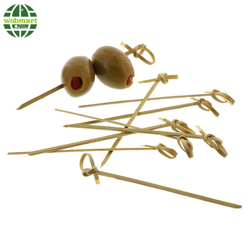Decorative Fruit Knotted Bamboo Skewers