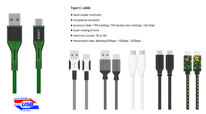 USB A/M to Micro B Type-C cable Fast Charging lightning 3 in 1 phone/computer Peripheral Cable