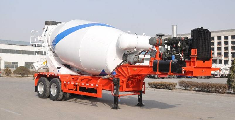 Used precast concrete bulk powder mixer semi tanker trailer/truck/lorry for sale