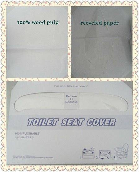 Wholesale Bathrooms Soft Disposable Paper Toilet Seat Covers
