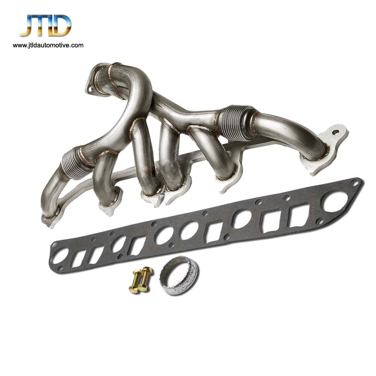 For Jeep Grand Cherokee Wrangler 91-99 4.0L L6 Exhaust Manifold Header w/ Bolts Gaskets