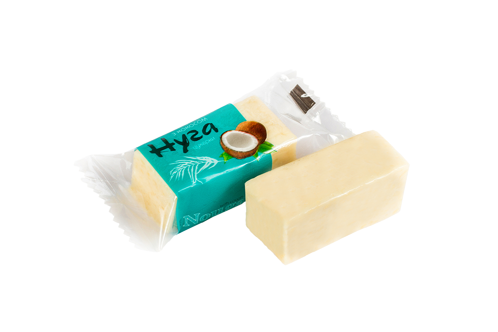 Nougat with coconut