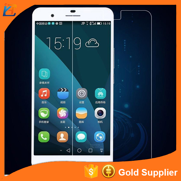 Anti oil clear tempered glass screen protective film for huawei p7