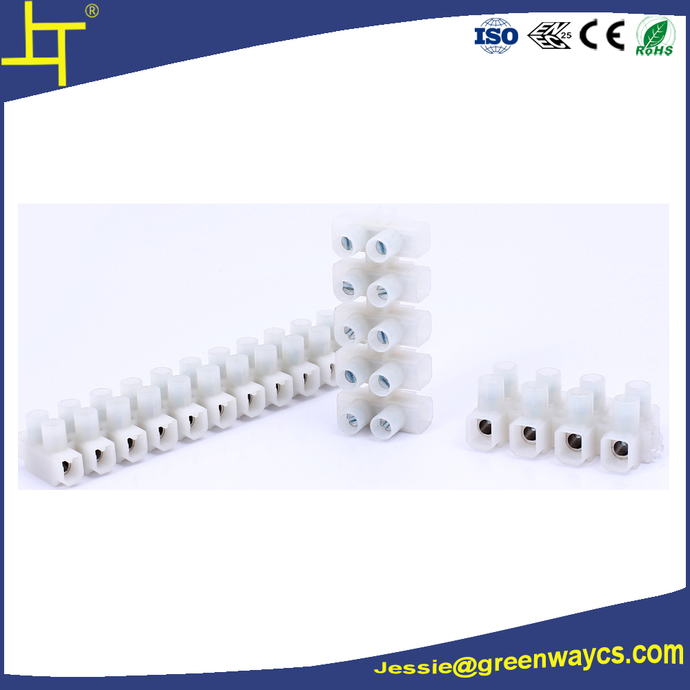 Hot sale pa8/pa10 screw plastic electrical terminal block connector