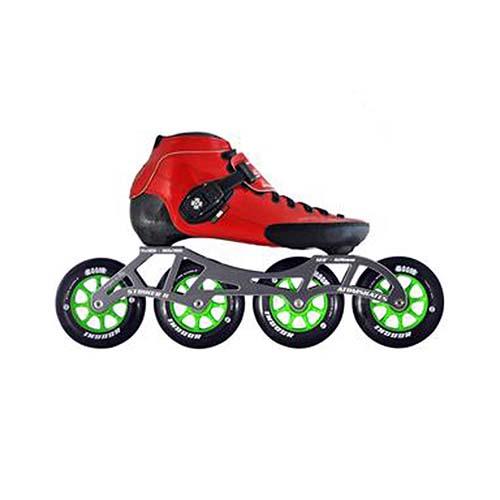 Inline Competitive Speed Skates - Luigino Strut Red Atom Boom Indoor Wheels