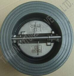 3 Inch ANSI 125/150 Cast Iron Wafer Type Check Valve Dual Plate (DH77X-125/150)