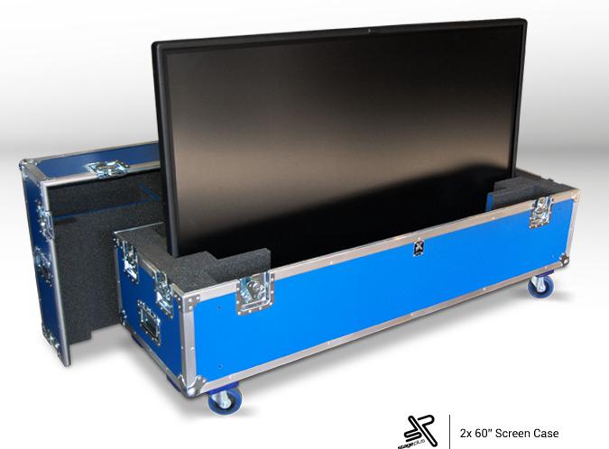 LED screen flight cases aluminum hardware