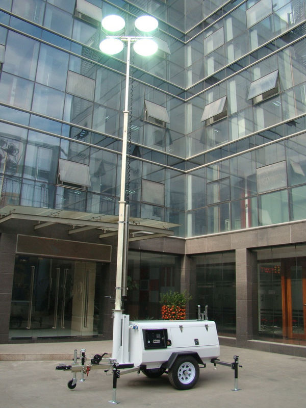 9m Mobile Light Tower 41000W with Kubota Engine Manual Operation(Double-end metal halide light)