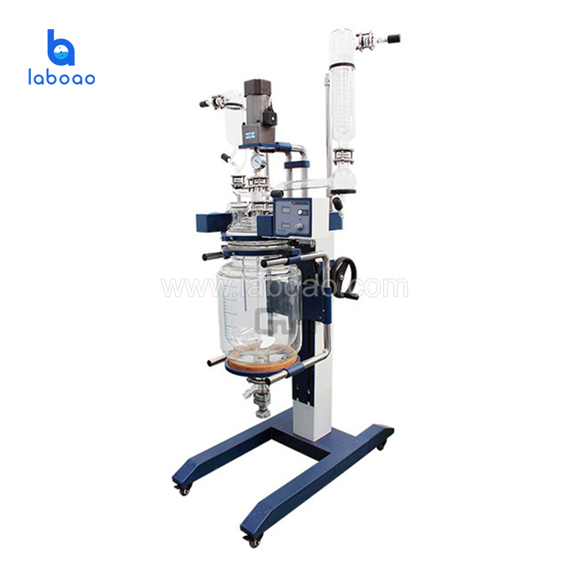 Laboratory distillation equipment chemical jacketed glass reactor with lifting and rotation