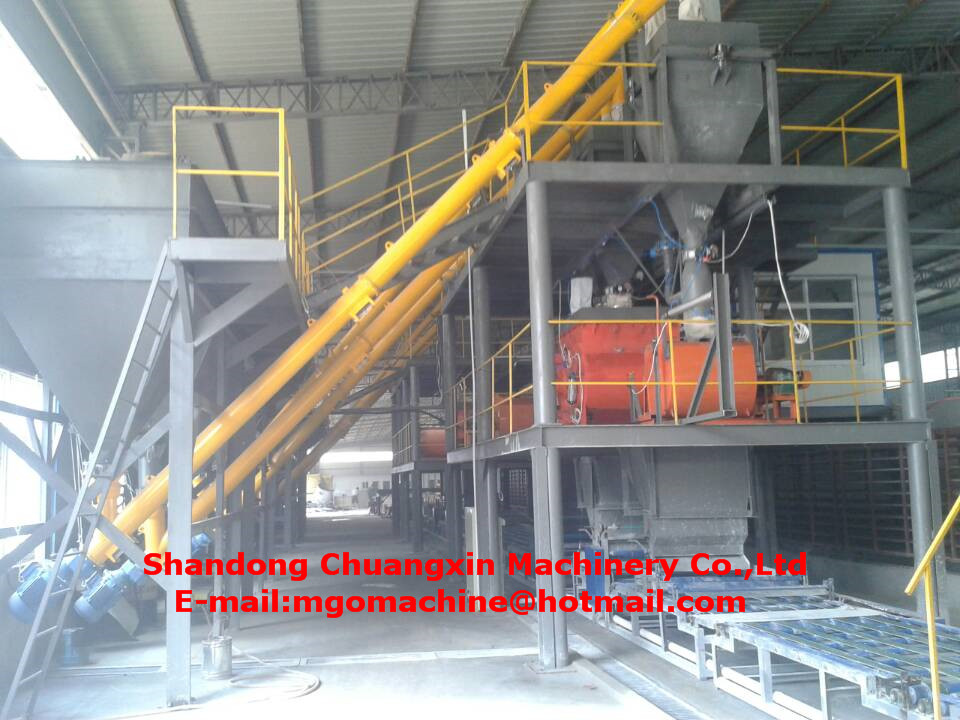 Steel Structure Mgo Board Production Line with Mgo/Mgcl2/Sawdust