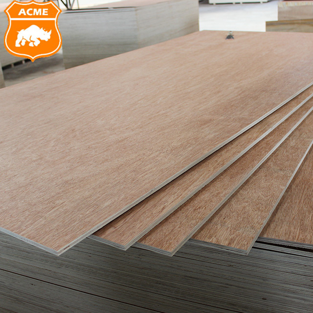WBP Glue Okoume Bingtangor Surface Plywood with Poplar Core