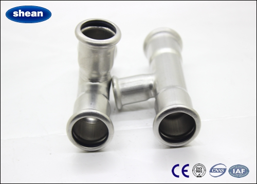 stainless steel 304 press fit plumbing systems tee