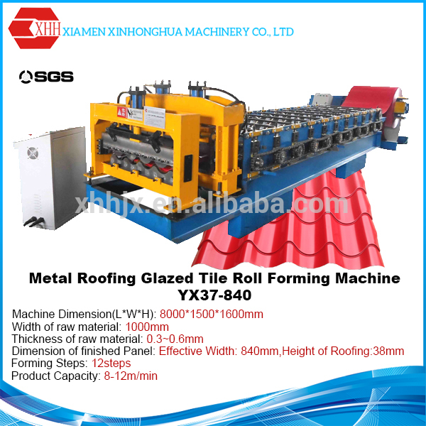 Corrugated Metal Roof Glazed Tile Roll Forming Machine Made in China from Alibaba Exporter