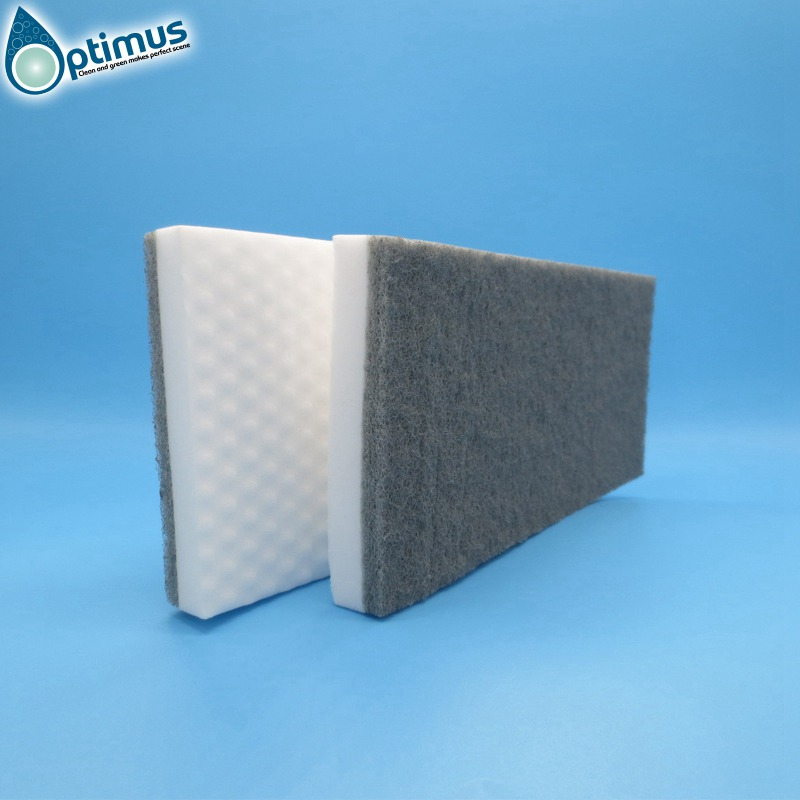 high density melamine sponge mop header melamine sponge mop with gray scouring pad