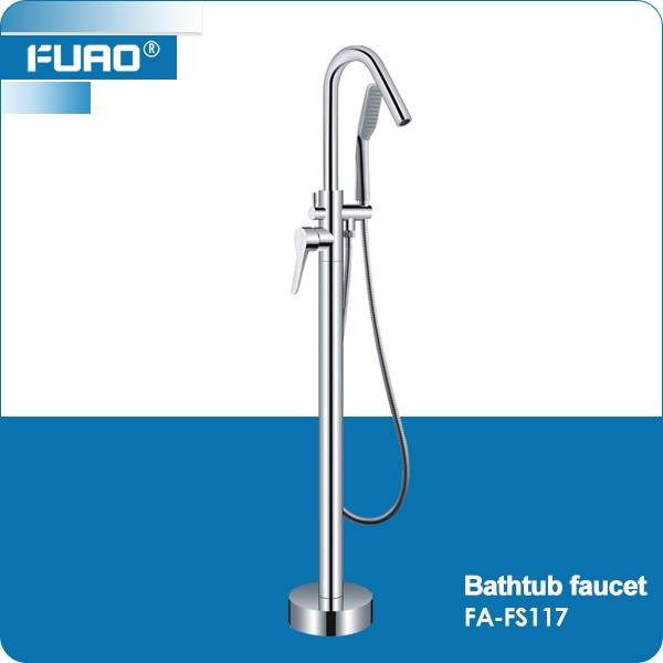 High quality floor standing bathtub faucet