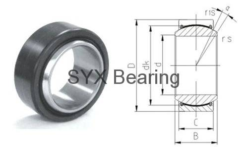 spherical plain bearing GE60ET-2RS
