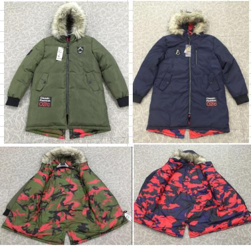 Men's reversible Parka Winter Coat stock lot Middle aged and elderly coat readymade parka