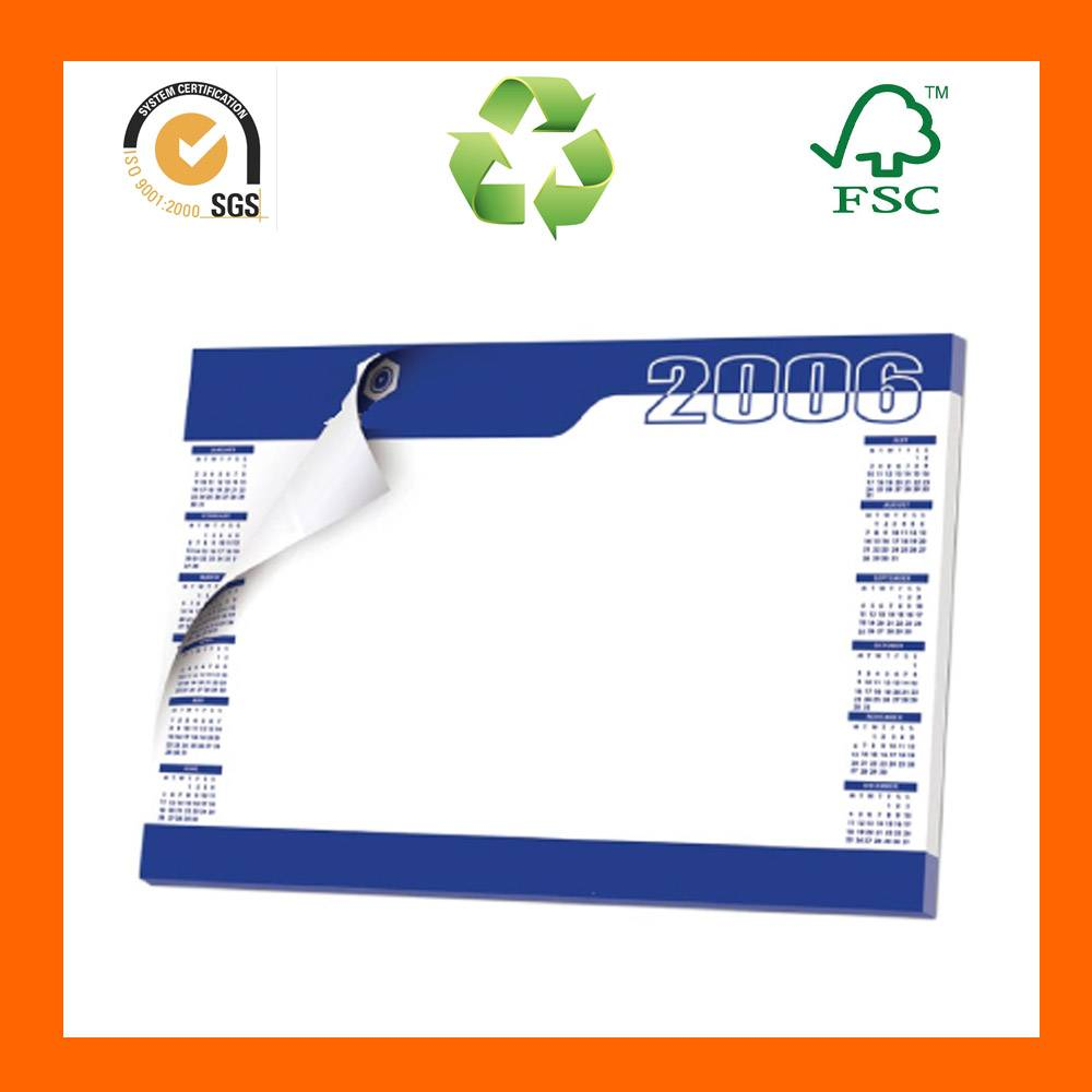 2014 Recycled Planner Single Sheet Wall Hanging Calendar