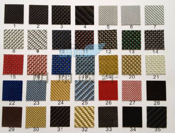 carbon fiber plate with colorful surface