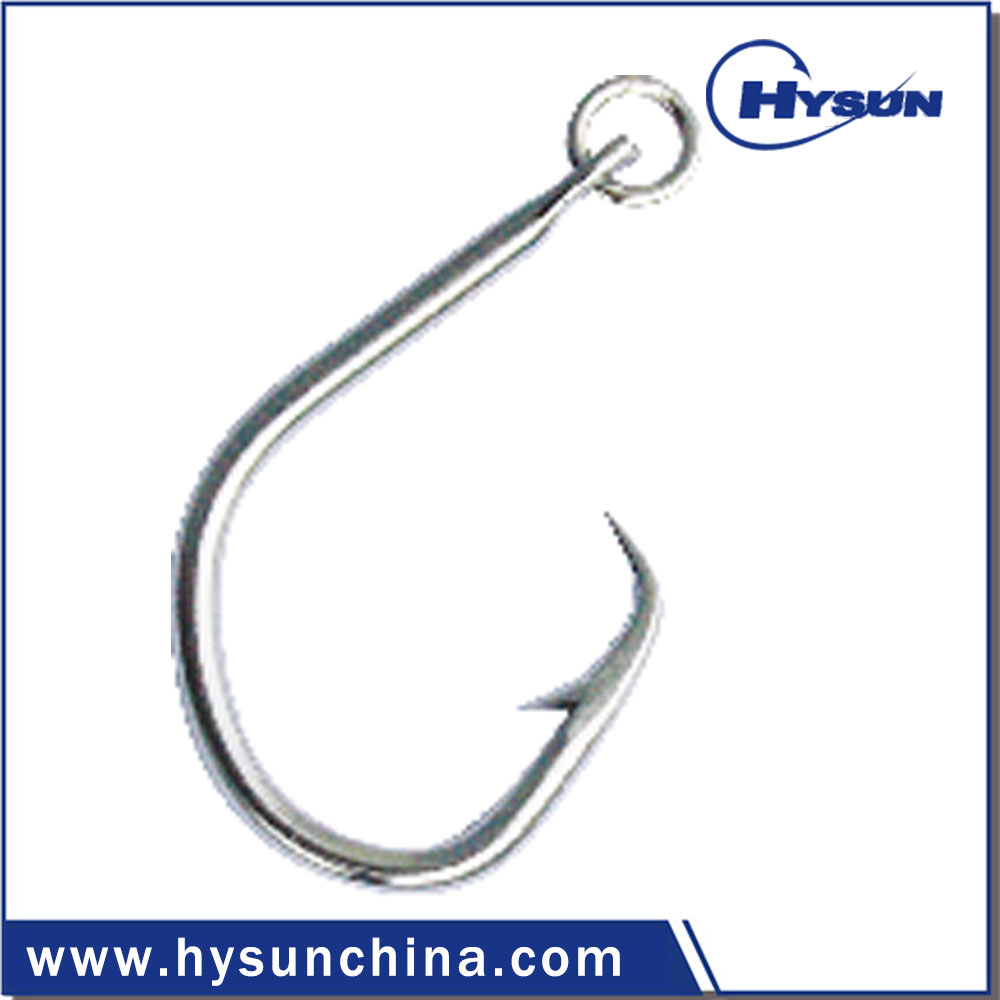 Stainless steel eagle Circle Hook with A Ring for longline fishing