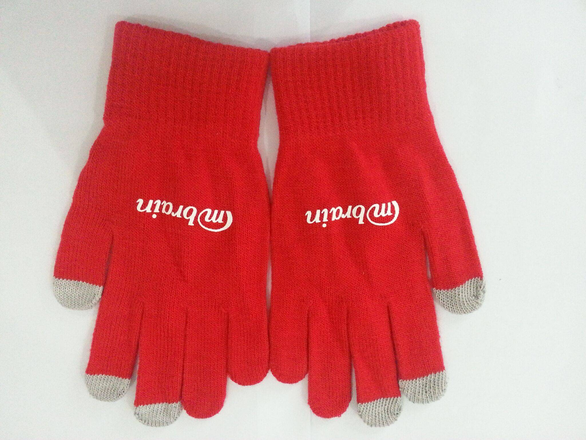 High impact touch screen gloves