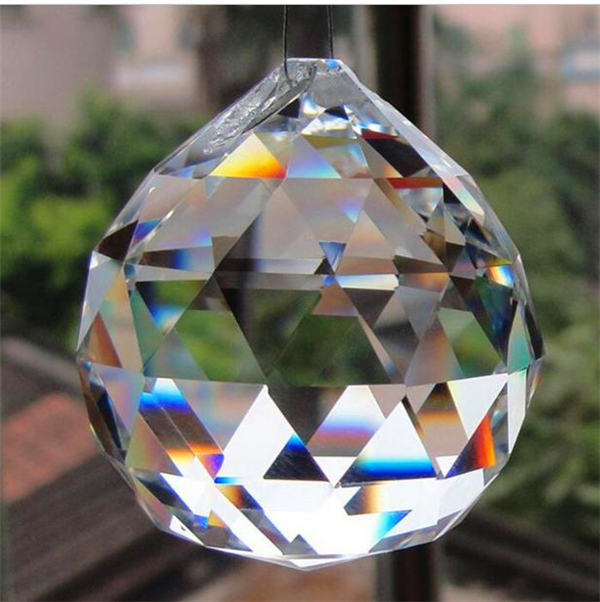 Crystal lighting ball, crystal lamp pendant, multi section crystal ball