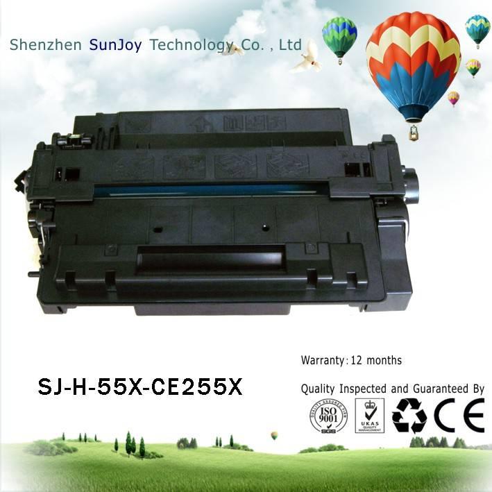 Sunjoy 55X toner cartridge CE255X compatible for HP Laserjet 3010 3015