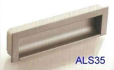 zinc alloy recessed door handle