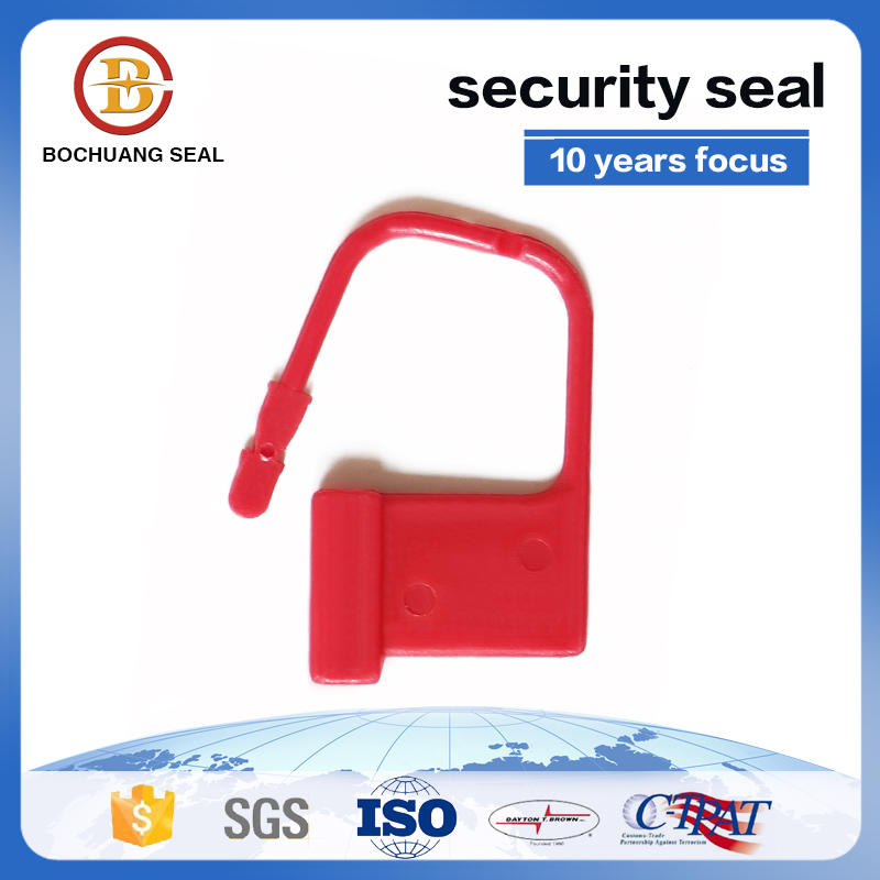 clear case padlock plastic seals BC-L104