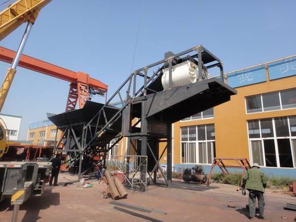 mobile concrete batching plant HZS50