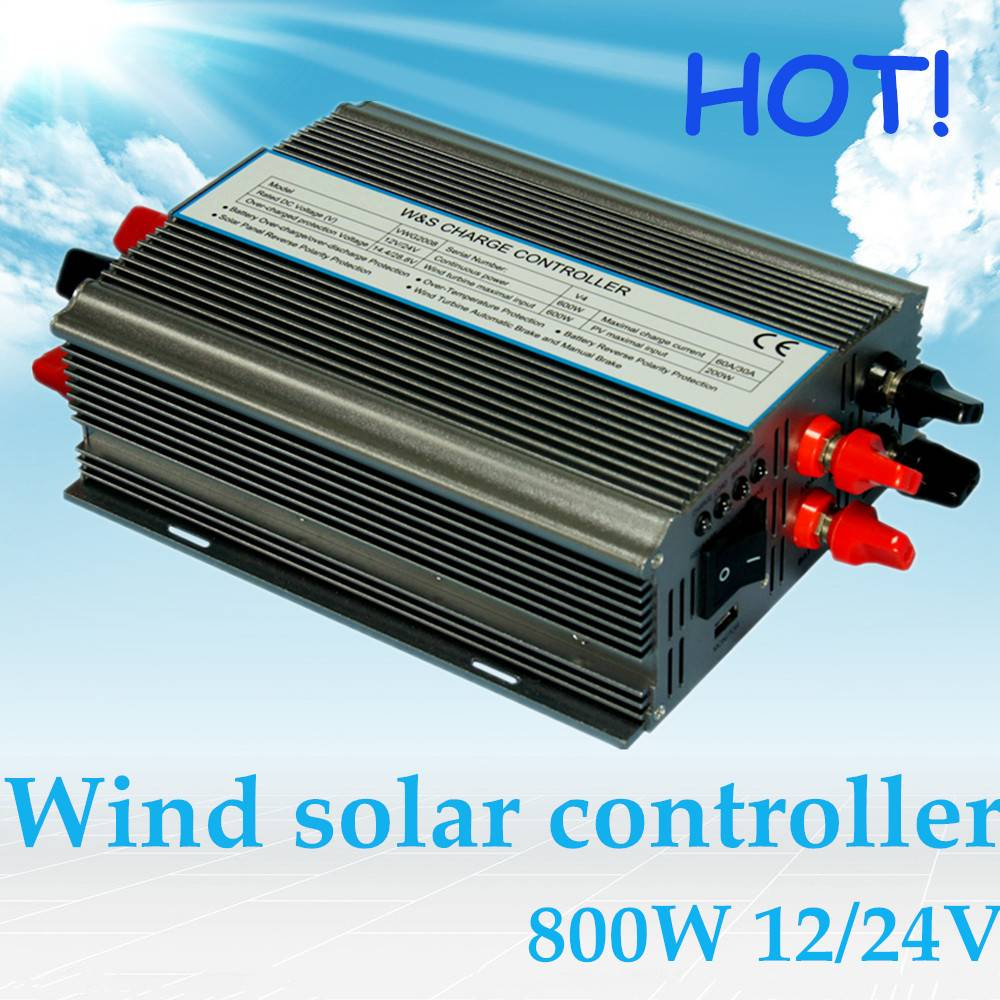Hot!Wind solar hybrid charge controller 800W control wind turbine and solar system