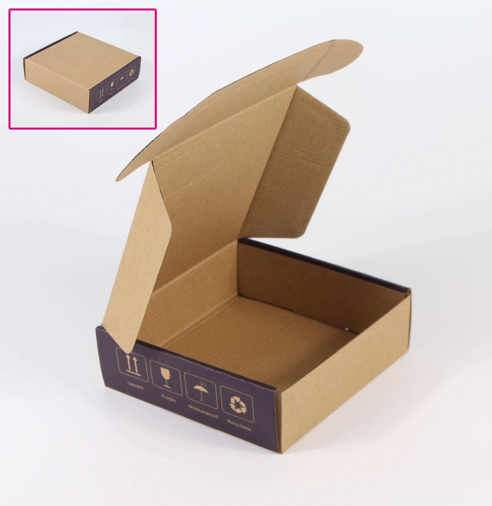 Small Mail Paper Customized Printed Kraft Corrugated paper shipping box