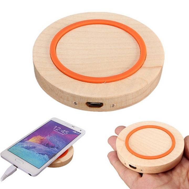 Wood Wireless Charger for iPhone & Android Phone