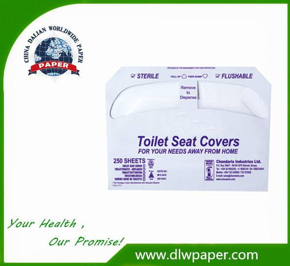 1/2 fold Natural Disposable Toilet Seat Covers