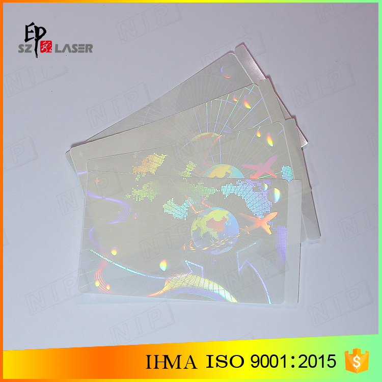 Laminate type Anti-fake Security PVC CARD Holographic Sticker