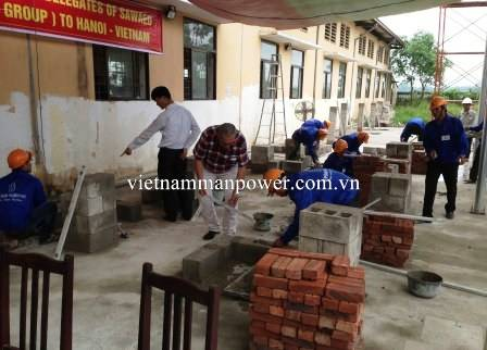 Construction workers from Vietnam Manpower