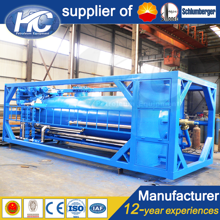 China pressure vessel fabricator well test buffer tank / oil storage tank for oil and gas well surfa